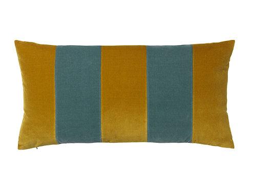 Stripe 40x80 #golden olive/pale blue
