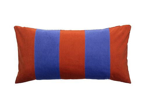 Stripe 40x80 dark red /indigo