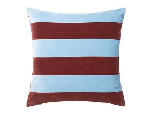 Stripe Velvet 55x55 #prune/blue dust