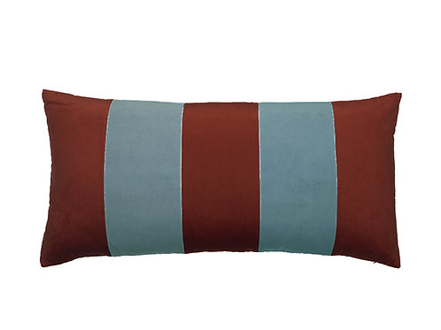 Stripe Velvet 40x80 wine/new blue