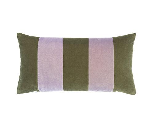 Stripe Velvet 40x80 artichoke/lavender