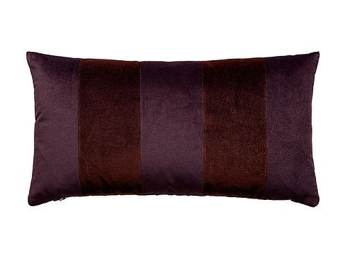 Stripe Velvet 40x80 aubergine/wine
