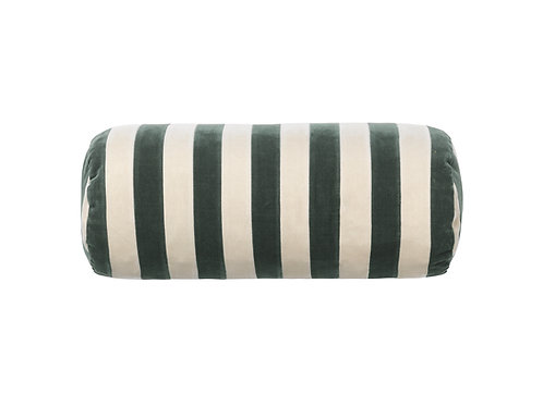 Bolster stripe #peacock/dusty white