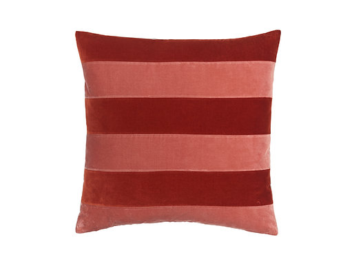 Stripe Velvet 55x55 #dark red/blush