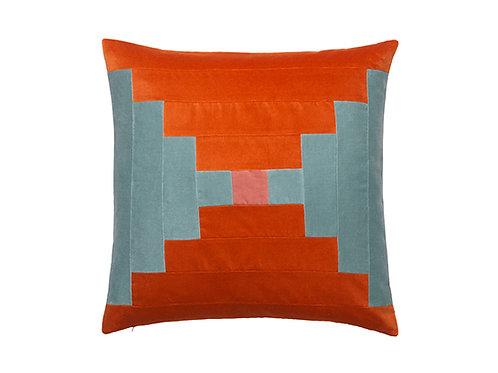 Agnes 55x55 #124 pale blue/brick