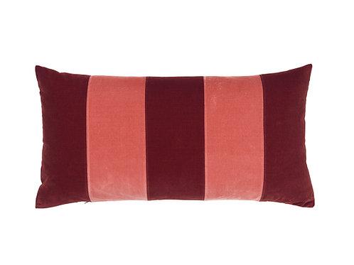 Stripe Velvet 40x80 wine/blush