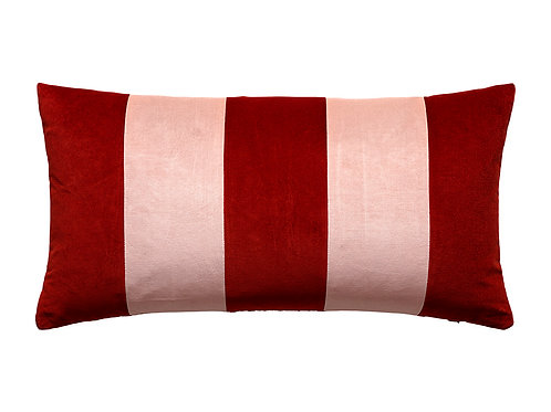 Stripe 40x80 #86 red pepper/pale rose