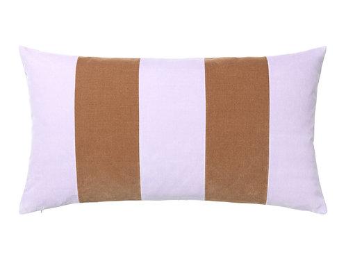 Stripe 40x80 #lavender/camel
