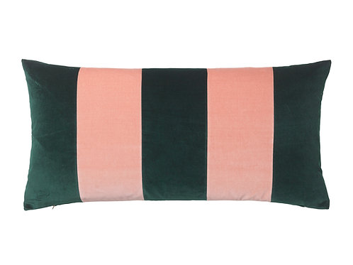 Stripe 40x80 #emerald/pale rose