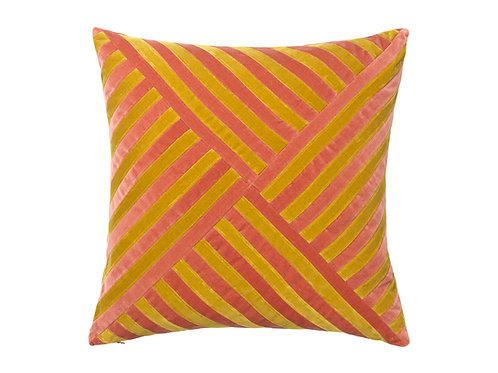 Lily 55x55 #golden olive/blush