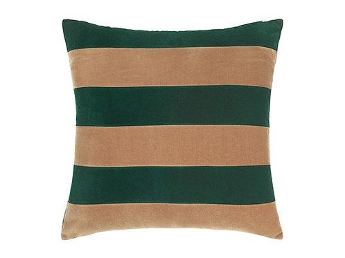 Stripe 55x55 #Emerald/camel