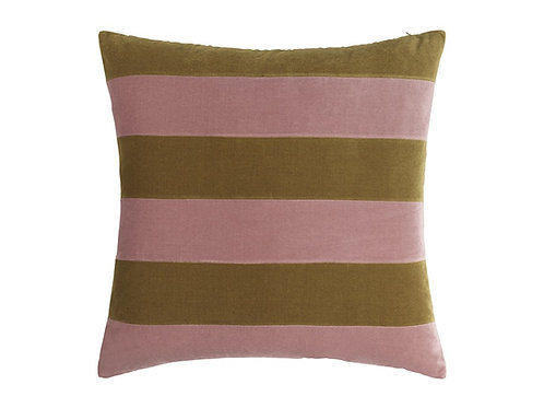 Stripe 55x55 #Old rose/willow