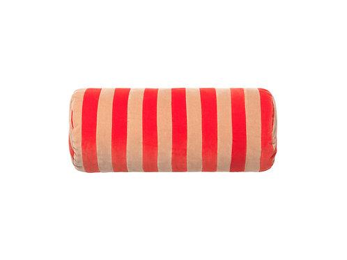 Bolster stripe #tomato/beige