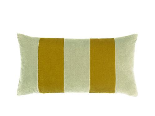 Stripe Velvet 40x80 sage/golden olive