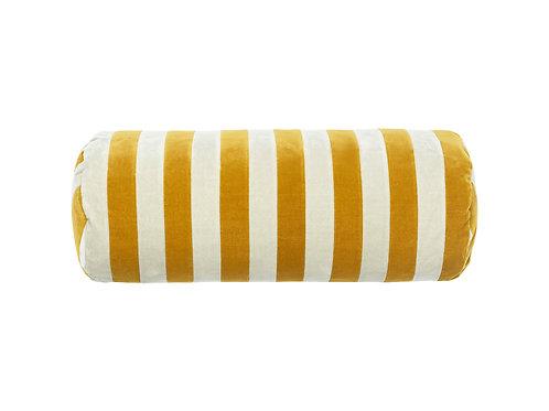 Bolster stripe #golden olive/sage