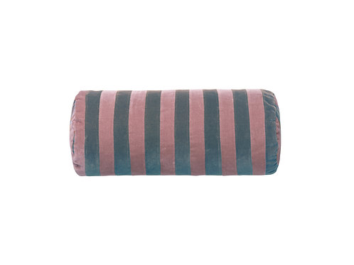 Bolster stripe #pale blue/old rose