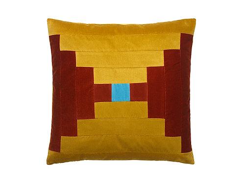 Agnes 55x55 #127 golden olive/dark red