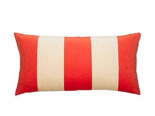 Stripe 40x80 #133 tomato/cream