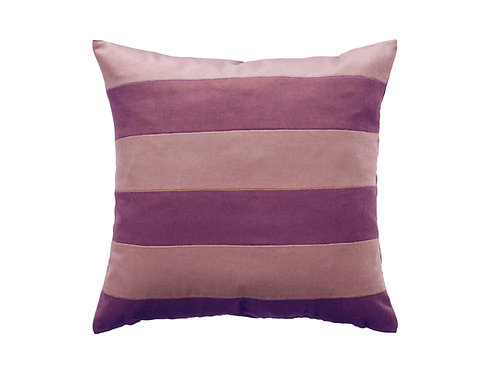 Stripe 55x55 #aubergine/dark rose