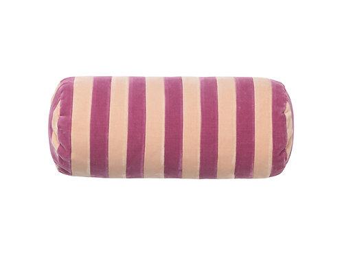 Bolster stripe #raspberry/plaster