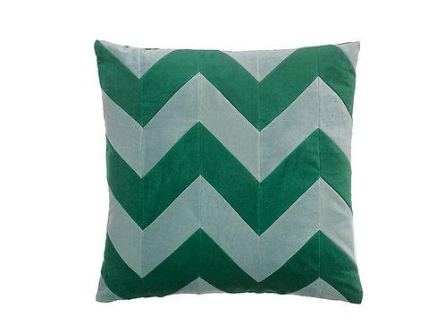 Zig Zag 60x60 # pale blue/emerald