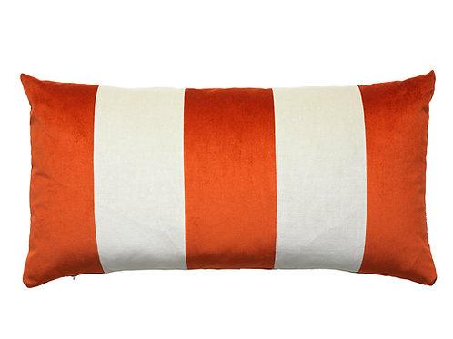 Stripe Velvet 40x80 #157 dark red/sage