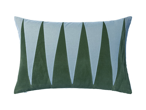 Paula 40x60 #emerald/pale blue