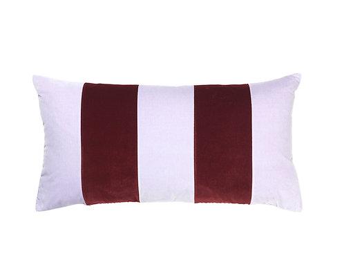 Stripe 40x80 #lavender/wine
