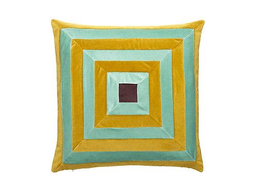 Isabel 55x55 #139 golden olive/pale green