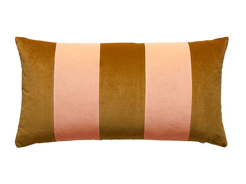 Stripe 40x80 curry/light peach
