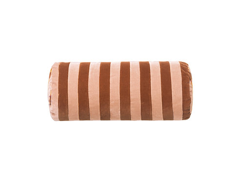 Bolster stripe #burnt orange/plaster