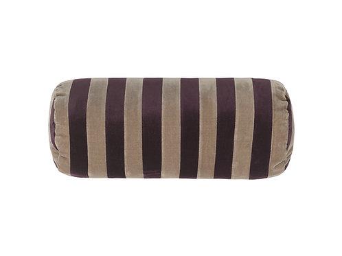 Bolster stripe #aubergine/taupe