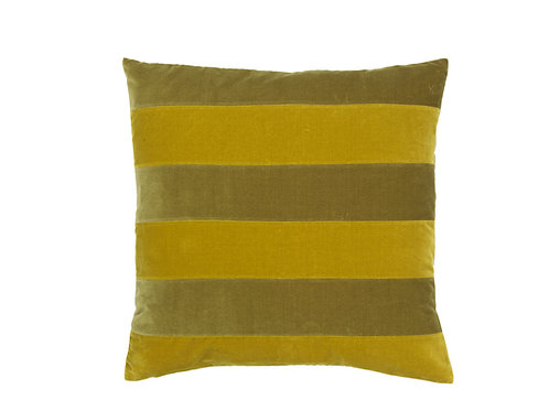 Stripe 55x55 #willow /golden olive
