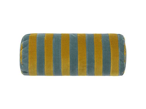 Bolster stripe #golden olive/pale blue