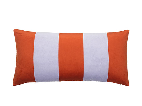 Stripe Velvet 40x80 dark red/mauve