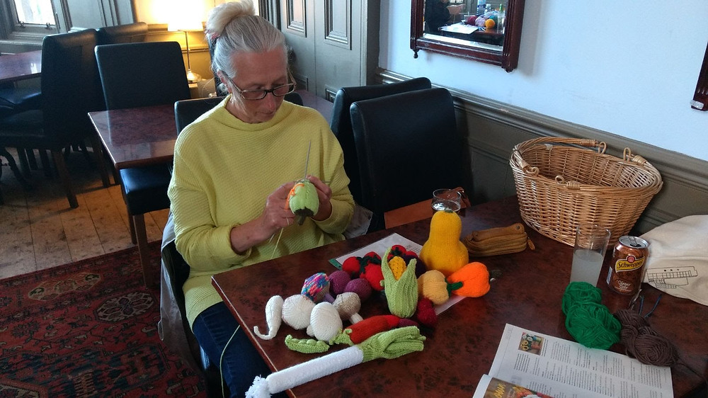 knitting fruit and veg