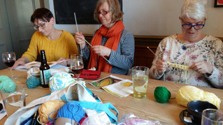 Knit Night Yarn Bombers prepare for our Open Day