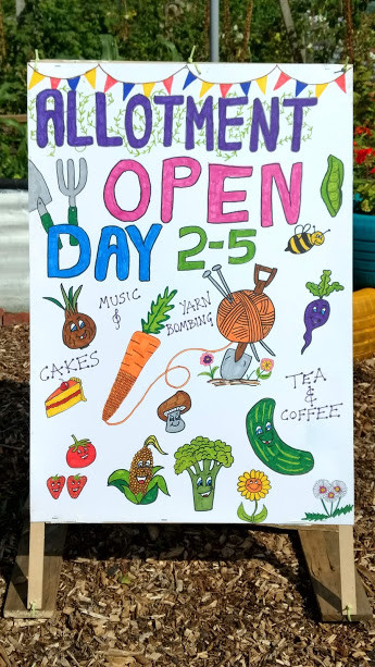 Open Day A-frame poster