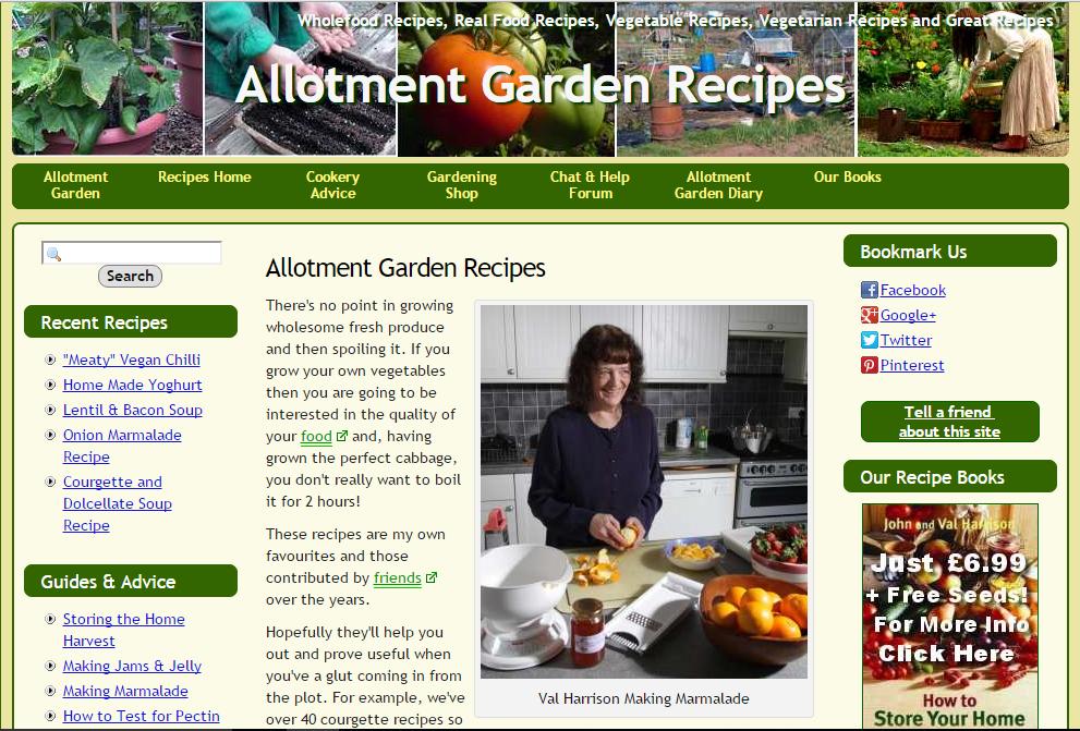 Allotment Garden Recipes