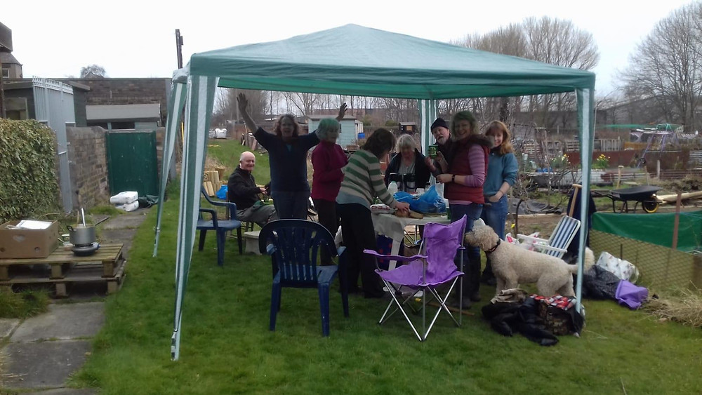 Tea break in the gazebo