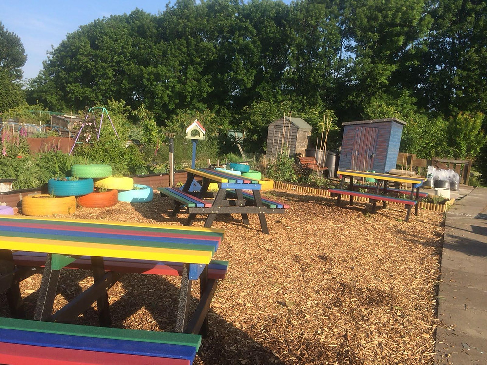 Community plot showing the fruits of our labour