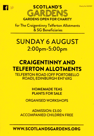 Allotments Open Day - Sunday 6th August 2017