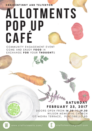 Allotment Pop-up Cafe - 25th February