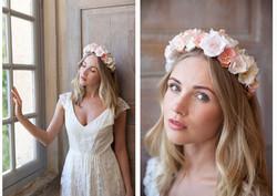 Couronne de fleurs made in france Lila d
