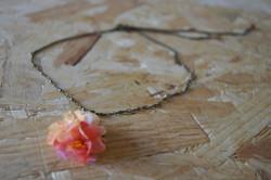Collier fleur de papier