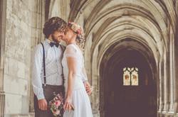 Mariage automne désuet