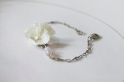 Bracelet mariage fleur hortensia