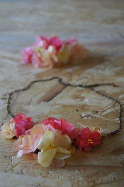 Collier plastron fleurs bohème