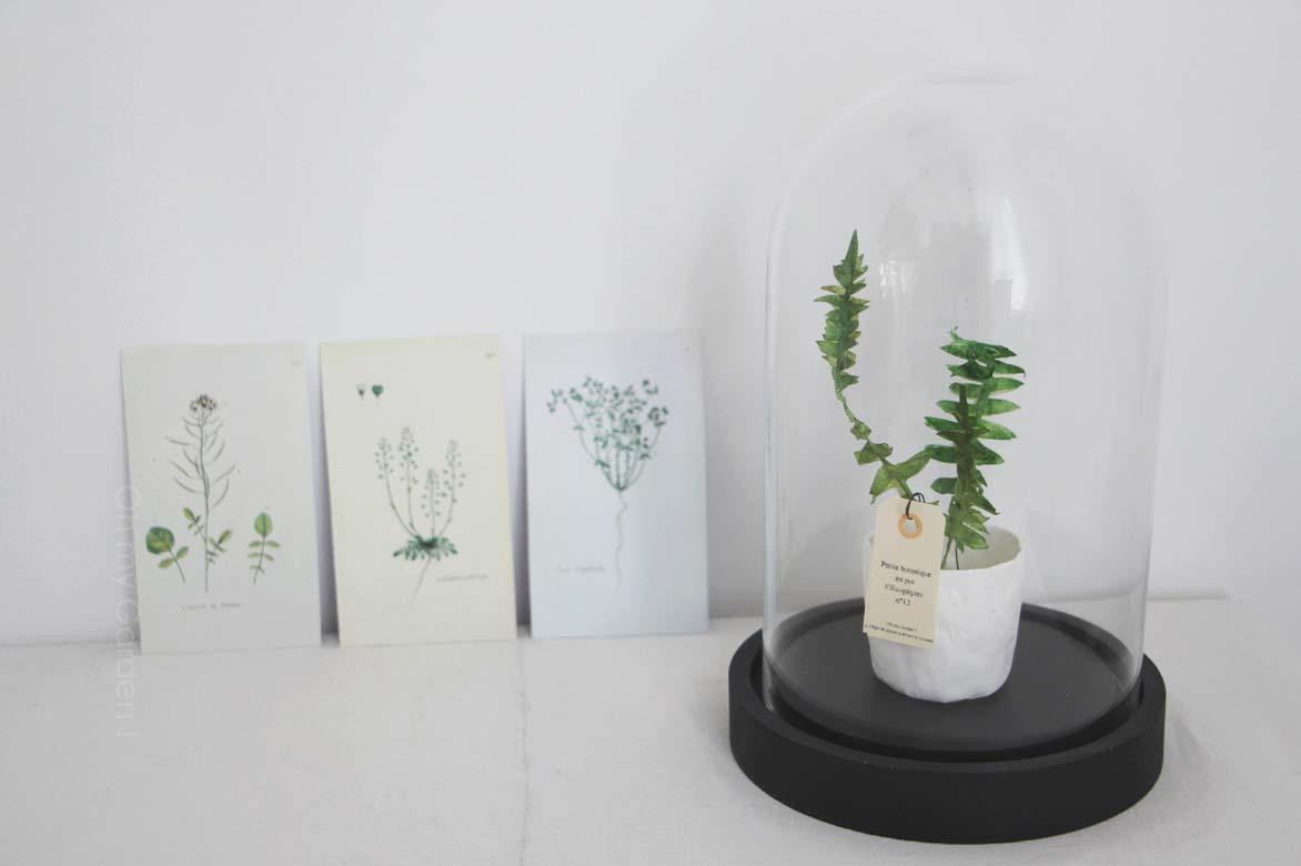 Fougère en papier miniature