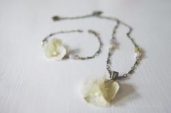 Collier mariage fleur hortensia